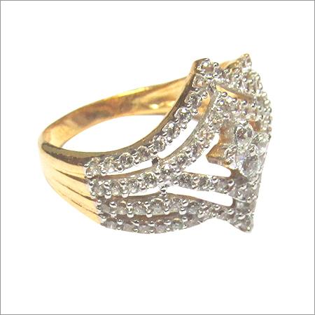 Cubic Zirconia Gold Jewellery LR 1