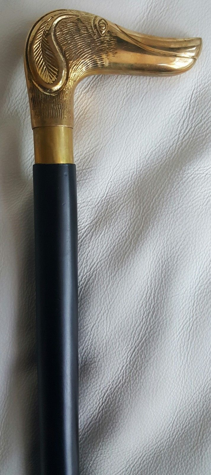 Classic Style Brass Beautiful Dog Design handle Black Wooden Walking Stick Cane
