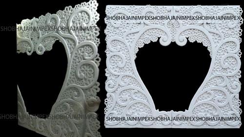 Floral Carvings Wedding Fiber Frame