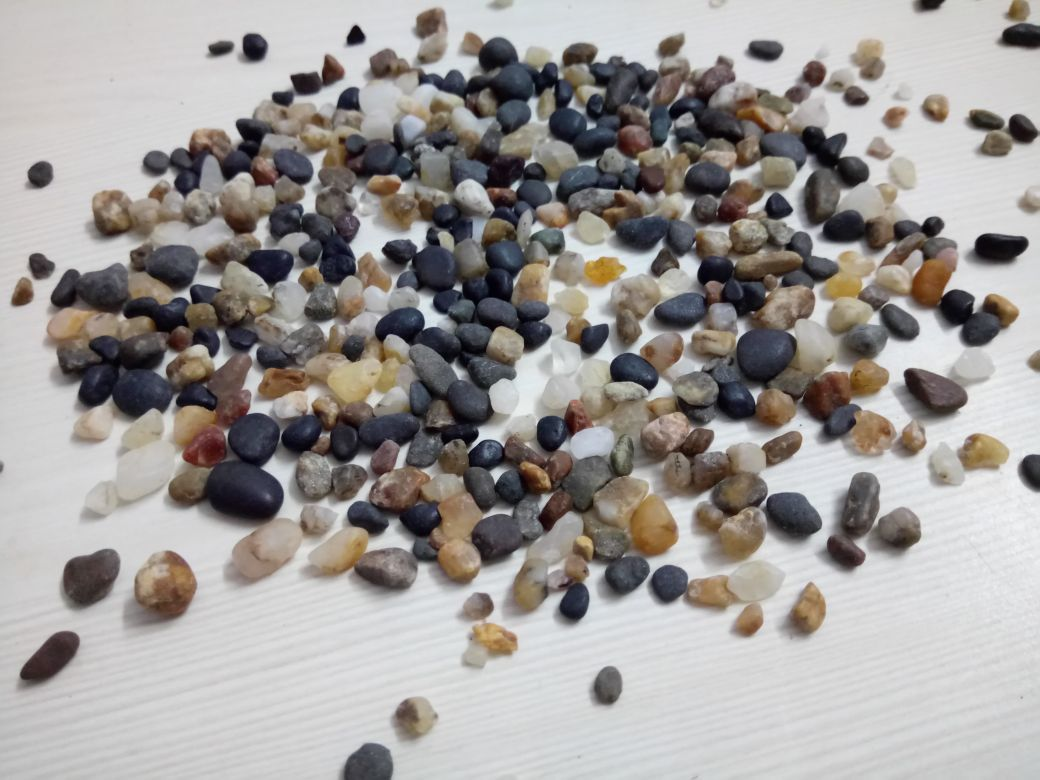 Hot sale natural colored mix gravel, pebble washed stone, mix pea gravel