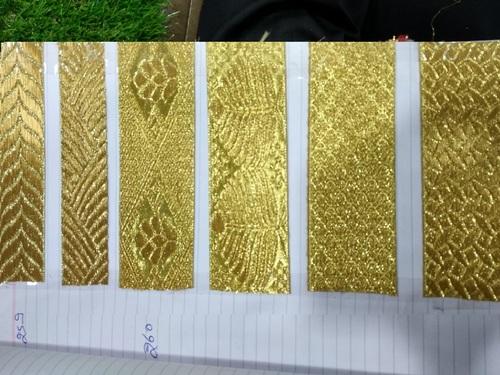 Gold jhalar Lace