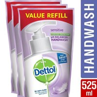 Dettol Liquid Handwash - 175 Ml (Sensitive, Buy 2 Get 1 Free)
