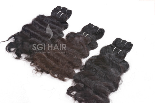 Indian Temple Hair Natural Deep Wavy