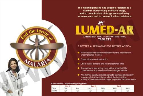 Arteemether 80/40 mg + Lumefantrine