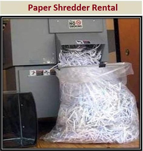 Paper Shredder Rental