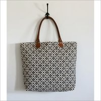 printed cotton darry tote bag
