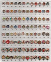 Colorful Design Wooden Buttons (HD-007)