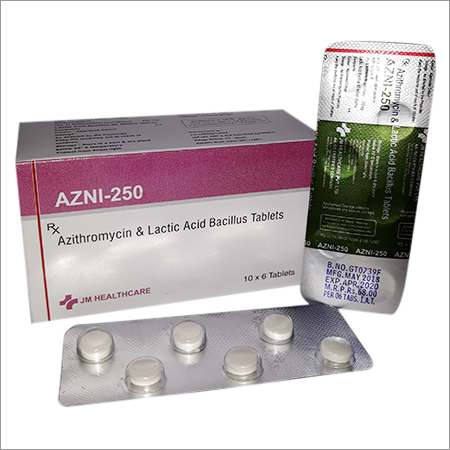 Azni-250 Azithromycin & Lactic Acid Bacillus Tablets
