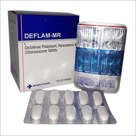 Deflam-MR Diclofenac Potassium Paracetamol and Chlorzoxazone Tablets