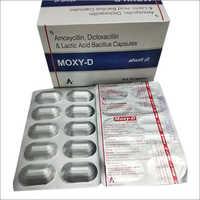 Moxy-D Amoxicillin Dicloxacillin Lactic Acid Bacillus Capsules