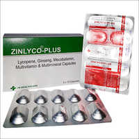 Zinlyco-Plus Lycopene Ginseng Mecobalamin Multivitamin Multimineral Capsules