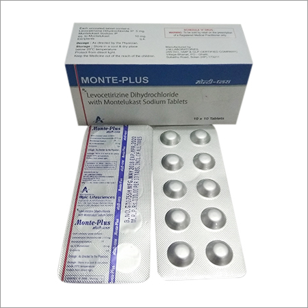 Monte-Plus Levocetirizine Dihydrochloride with Montelukast Sodium Tablets