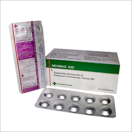 Neomax-KID Dispersible Amoxicillin and Potassium Clavulanate Tablets