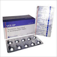Vee SP Aceclofenac Paracetamol and Serratiopeptidase Tablets