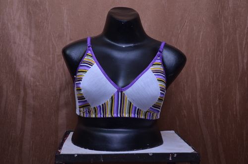 Ladies Striped Print Bra