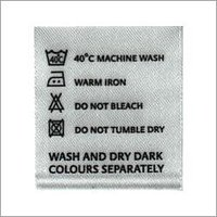 Custom Wash Care Labels