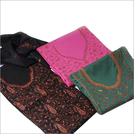 Multi Color Sozini Needle Work - Pashmina Stoles