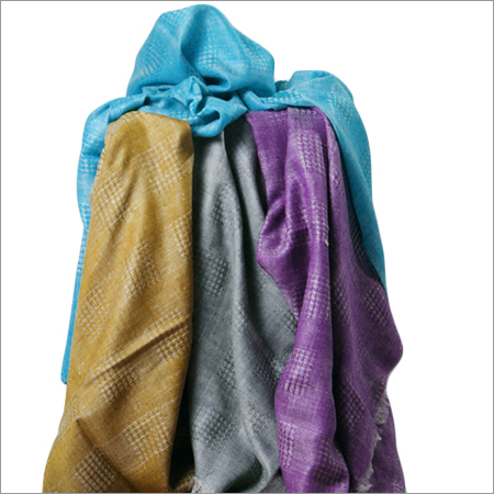 Check Honeycomb Multi Color Embroidered Pashmina Stoles