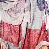 Jacquard Check and Stripes Embroidered Pashmina Stoles