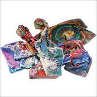 Multi Color Designer Print Woolen Stoles