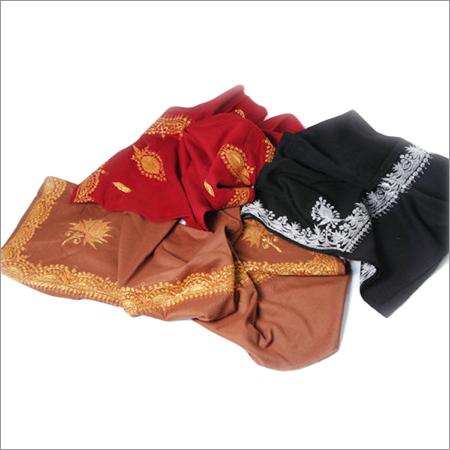 Tilla Work Embroidered Woolen Stoles