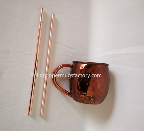 Solid Copper Straw