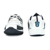 Kids White & Blue Sports Shoes