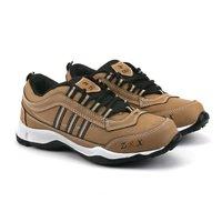 Tan Black Kids Sports Shoes