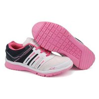 Ladies White & Pink Sports Shoes