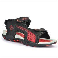 Mens Black & Red Sandals