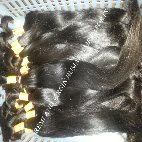 Bulk Hair Extension Type and Remy Hair Hair Grade natural raw indian hair