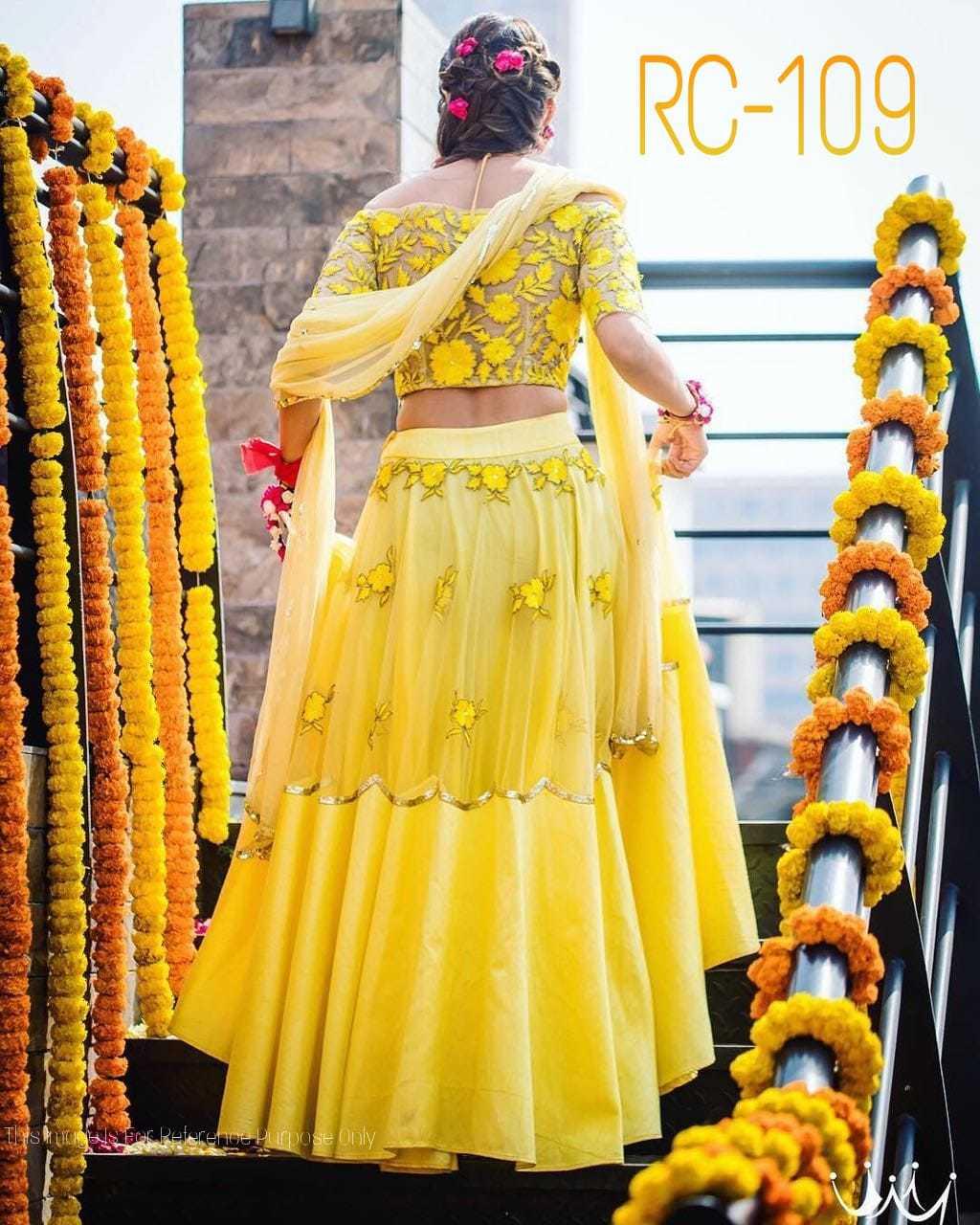 Bollywood Yellow Lehenga Choli