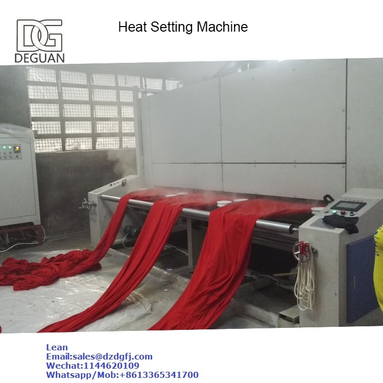 heat setting machine for knitting fabric