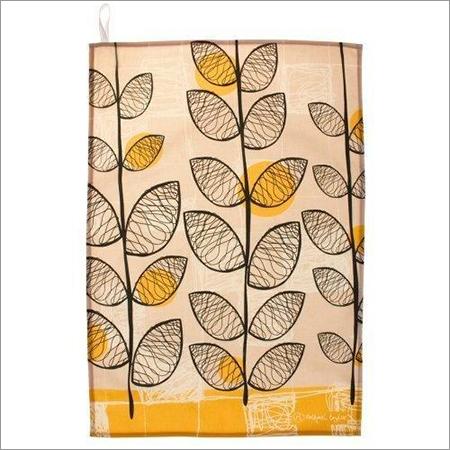 Leaf Printed Tea Towel
