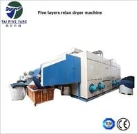 Three Pass High Efficient Relax Dryer of Textile Machine for Textile Finishing
