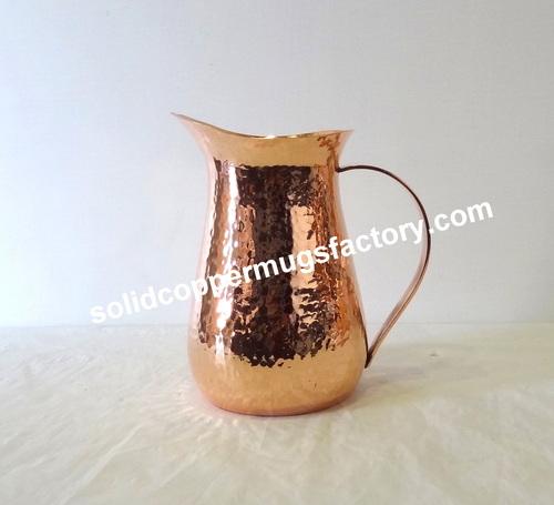 Modern Hammered Copper jug