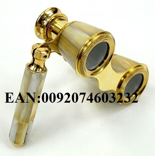 NAUTICALMART Brass Binocular Mother Of Pearl - Opera Binocular By Nauticalmart