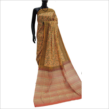 Ladies Beige Saree
