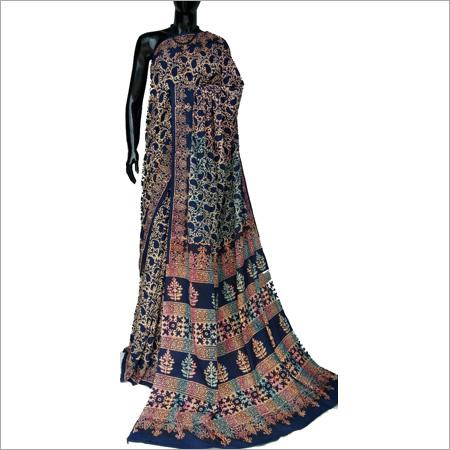Hand block Ladies Cotton Silk Saree
