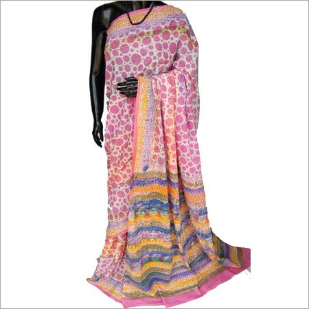 Hand Block Print Designer Saree