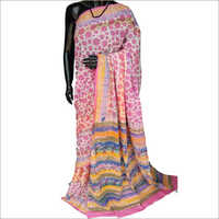 Ladies Hand Block Print Designer Saree