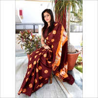 Hand block Badhani Printed Cotton Saree