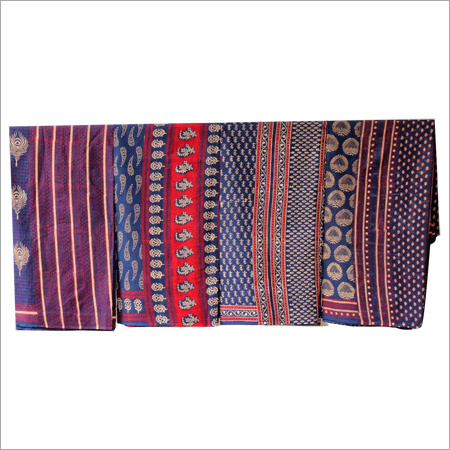 Hand block Bagru Dabu Printed Saree