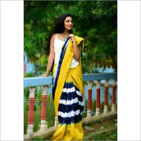 Hand block Printed Cotton Saree