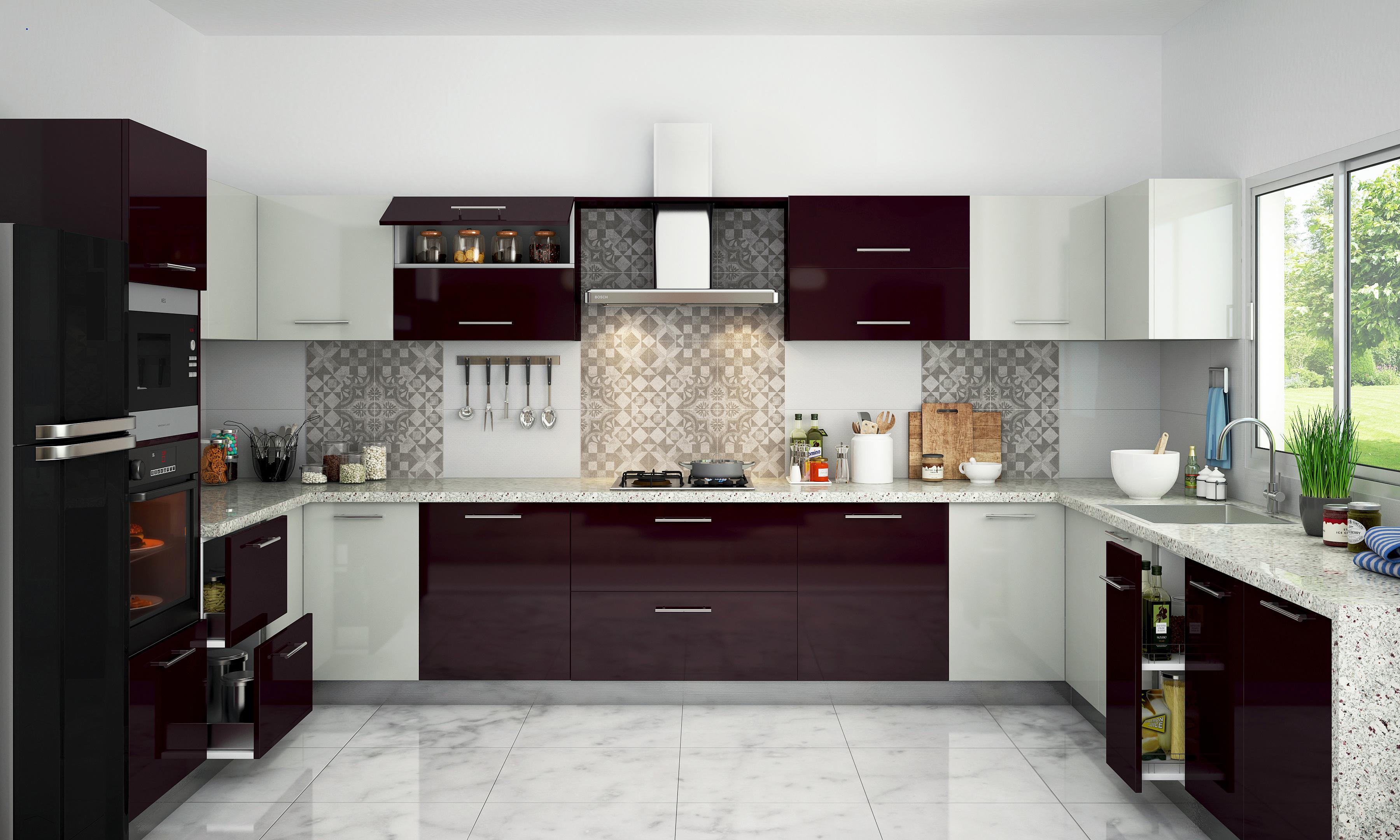 U Shape Modular Kitchen U Shape Modular Kitchen Exporter