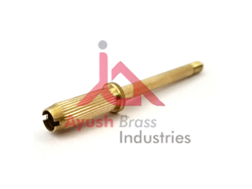 Brass threaded pin