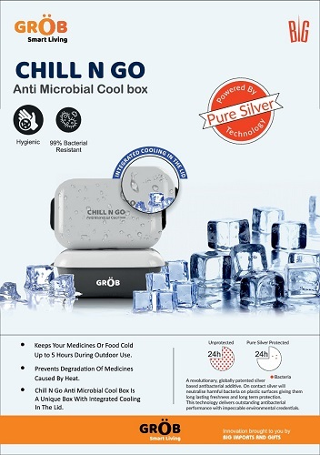 CHILL N GO Anti Microbial Cool box