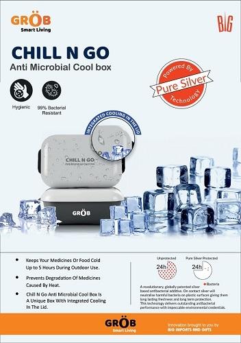 CHILL N GO Anti Microbial Cool box