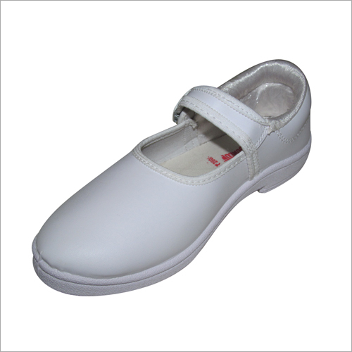 Girl White School Shoes