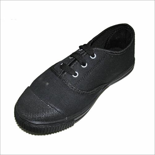 Boys Laces Black School Shoes